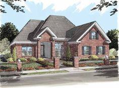 Eplans European House Plan - Optional Game Room - 1595 Square Feet and 3 Bedrooms(s) from Eplans - House Plan Code HWEPL11686