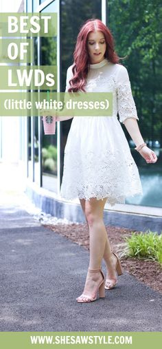 """Need a LWD for Memorial Day weekend? @VIPme and I have you covered! // #VIPme #Pinner6892317 // https://www.vipme.com/white-stand-collar-silk-embroidery-mini-dress_pV0000657701?utm_source=pinterest&utm_medium=SI&utm_campaign=Stephanie_Whitman // Use code """"Stephanie564"""" to save $5 on orders over $50 // SheSawStyle.com"""
