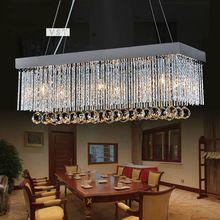 2014 Hot moderno de primeira classe K9 candelabro de cristal da lâmpada o retangular de cristal luminárias de jantar lustre luz para /(China (Mainland))