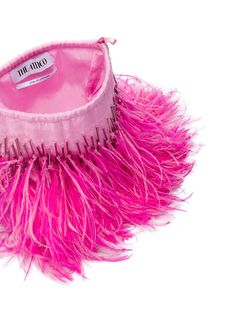 Pink Silk, Feather, Women Wear, Pouch, Embroidered Bag, Bags, Shopping, Tulle, Fashion Design