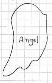 patron aile d'ange | Pletení z papíru 1 | Pinterest | Anděl a Křídla