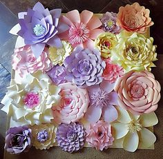 Paper Flower Wall Decor Wedding Decor Home by MySparkledLife