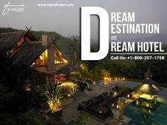 Dream Destination at Dream Hotel Make your trip memorable, Traveloaid will make sure of that. Call us at Our services are available Dream Hotel, Hotel S, Book Hotel Online, Flight And Hotel, Best Hotel Deals, Travel Destinations, How To Memorize Things, Road Trip Destinations, Destinations