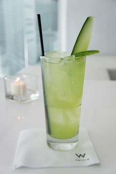 jalepeno cucumber lemonade... Add some vodka and you have yourself a W cocktail