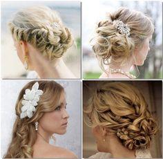 #Spring2014 Romanticismo en toda su expresión. Peinado recogido o un peinado largo con rodetes y pequeñas flores. <3