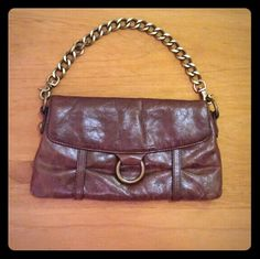Hobo international clutch wristlet. Brown clutch with removable chain. HOBO Bags Clutches & Wristlets