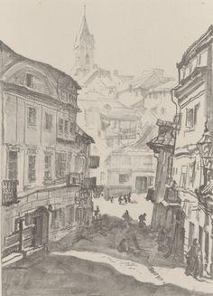 Dzielnica żydowska - Leon Wyczółkowski