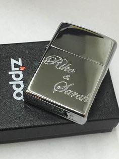 High Polish Chrome Engraved Lighter. MonogramedBest