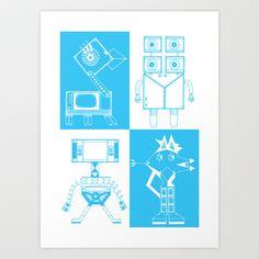 Robots Art Print by Studio Teer - $18.00