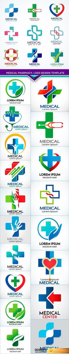Find your Grapfix Desire With US http://www.desirefx.me/medical-pharmacy-logo-design-template-19x-eps/