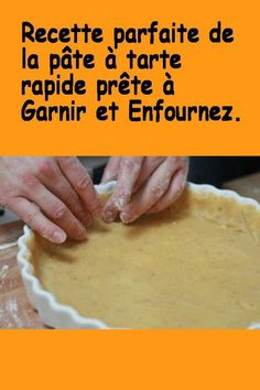 The perfect recipe for ultra fast pie crust without getting your hands dirty - Easy Pie, Cake & Co, Pasta, Perfect Food, Parfait, Food Videos, Voici, Food And Drink, Yummy Food
