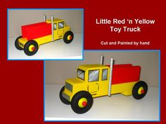 little Yellow truck...made from wood scraps