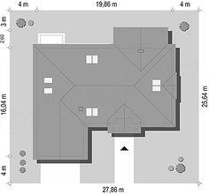 Projekt domu Willa Parkowa 4 165,77 m2 - koszt budowy - EXTRADOM Bungalow, Civil Construction, Building A House, Villa, Floor Plans, House Design, Architecture, Home, Beautiful Modern Homes