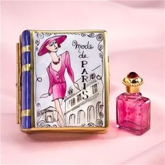 Limoges Fashion Book Box with Perfume Bottle | The Cottage Shop ♥≻★≺♥