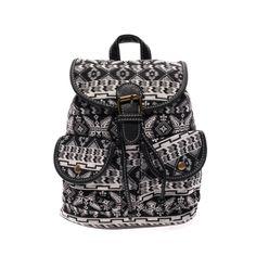 női fekete mintás vászon hátizsák - Vászon - Táska webáruház - Női táskák f31212e66f