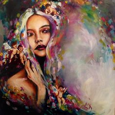 UK based artist selling internationally - From wildlife art and portraiture to abstract. Psychedelic Art, Painting Inspiration, Art Inspo, A Level Art, Paintings I Love, Arte Pop, Wildlife Art, Portrait Art, Portraits