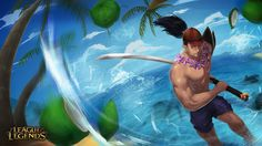 pool party slash art league of legends yasuo sea if you interest my work. Can contact me at phoommiiphat@gmail.com i'll send back soon as possible