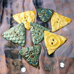 Sharilyn Miller: NEW: Beads & Buttons Out of the Kiln!