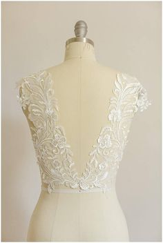 mirrored soft lace flower appliqué for wedding dresses Plain Wedding Dress, Bridal Wedding Dresses, Bridal Lace, Indian Bridal Wear, Christening Gowns, Bridal Fashion Week, Lace Flowers, Beaded Lace, Brokat