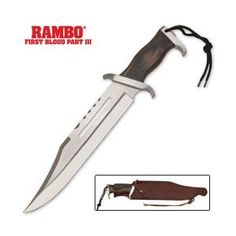 Rambo Knives Masterpiece Collection 3 Hollywood Sylvester Stallone Signature Edition Knife *** Click image for more details. (This is an affiliate link) Film Rambo, Rambo 3, John Rambo, Survival Weapons, Survival Knife, Knives And Tools, Knives And Swords, Sylvester Stallone, Bowie Messer