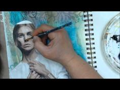 Step by step magazine to painted image process.  Covering OVER the image with paints!  DO THIS!