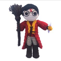 Ravelry: Mini Harry Potter Quidditch Amigurumi pattern by Daisy and Storm Harry Potter Free, Harry Potter Crochet, Harry Potter Quidditch, Harry Potter Characters, Movie Characters, Crochet Patterns Amigurumi, Crochet Dolls, Crocheting Patterns, Crochet Baby