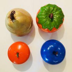 LaRabota - Pomme d'amour Upcycle, Pudding, Vegetables, Desserts, Vintage, Decor, Red Apple, Pear, Love