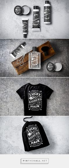 Lucky Ace Barbers (Concept) - Packaging of the World - Creative Package Design Gallery - http://www.packagingoftheworld.com/2016/06/lucky-ace-barbers-concept.html