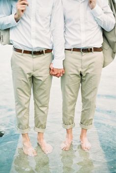 These handsome gents: http://www.stylemepretty.com/destination-weddings/2015/07/28/intimate-beachfront-gay-wedding-in-phuket-thailand/ | Photography: Mildly the Film - http://www.mildlythefilm.com/
