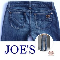 "CLASSIC BOOT CUT JOE's Classic cut,high quality Joe's bought in Neiman Marcus. Excellent condition. Casual, yet office attire worthy. Medium wash, blue. Size:27"". Inseam:29"" (not taller than 5.3""). Waist: 30"". Rise: 7.5"" Joe's Jeans Pants Boot Cut & Flare"