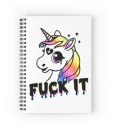 Fuck It spiral notebook by Amy Grace