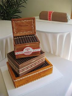 Boxes of Cigars Cake for my wonderful hubby @Paul Michael