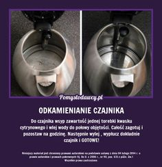 EKSPRESOWE ODKAMIENIANIE CZAJNIKA - PROSTO I SKUTECZNIE! At Home Workout Plan, At Home Workouts, Home Organisation, Organization, Home Hacks, Kitchen Aid Mixer, Kitchen Hacks, Good Advice, Drip Coffee Maker