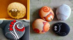 45 Pebble painting ideas - Page 5 of 5 - Creatistic Pebble Painting, Stone Painting, Crafts For Kids, Arts And Crafts, Diy Crafts, Stone Art, Rock Art, Painted Rocks, Creative Art