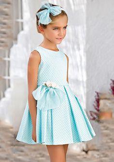 Vestido 22419, color 0096 Verde agua- Talla: 1, 2, 3, 4, 5, 6, 8, 10 Colección Amaya