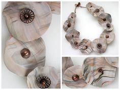 scrap clay necklace by Anna Jour, via Flickr
