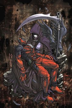 Deadpool and Death make the very best marvel couple, no question about it -Will Comic Book Characters, Marvel Characters, Comic Character, Comic Books Art, Comic Art, Book Art, Marvel Dc Comics, Marvel Heroes, Anime Comics