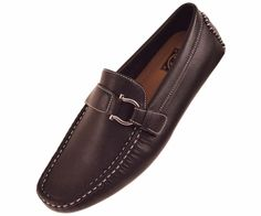 Amali Mens Black Smooth Driving Shoe with Silver Ornament Style 1706-000 #Amali #DrivingMoccasins