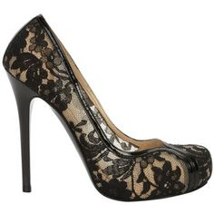 FLESH LACE PUMP
