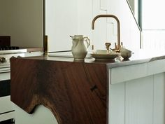 Fold-over wooden countertop