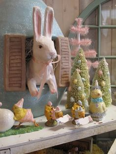 Good morning! Easter decor around the Shoppe!