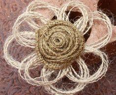 Natural Burlap Wedding Decor Flower - Country - Rustic - Vintage - Western Decor on Etsy, $1.99