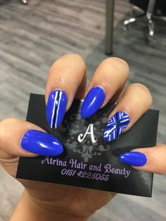 Electric blue nails with nail art! Nail Manicure, Manicures, Blue Nails, Electric Blue, How To Do Nails, Nail Art, Style, Nail Bar, Nail Salons