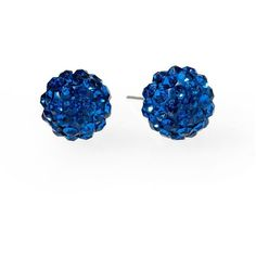 Tinley Road Pavé Fireball Stud Earring found on Polyvore