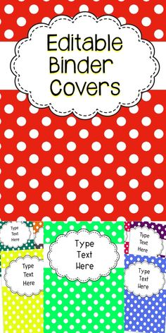 Binder Covers - Stay Organized With These Editable Binder Covers! #organization