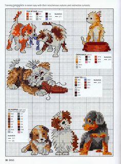 Punto croce - Schemi Gratis e Tutorial: Grande raccolta di schemi a punto croce a tema razze canine