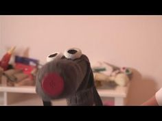 How To Make A Dog Sock Puppet - YouTube