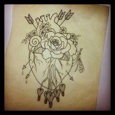 Anatomical Heart drawing