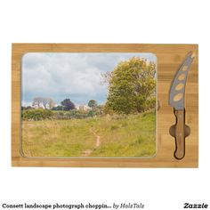 Consett landscape photograph chopping board