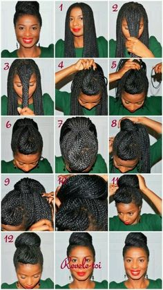Up do with braids. Can't wait to get my braids back!!!